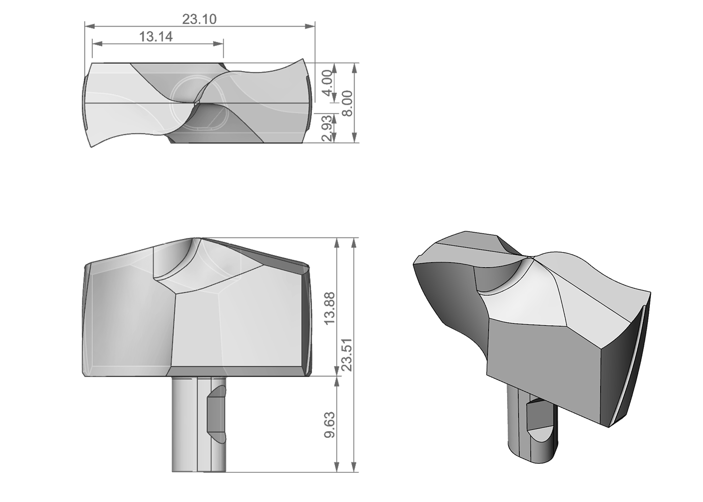 reverse engineereing di inserto metallico
