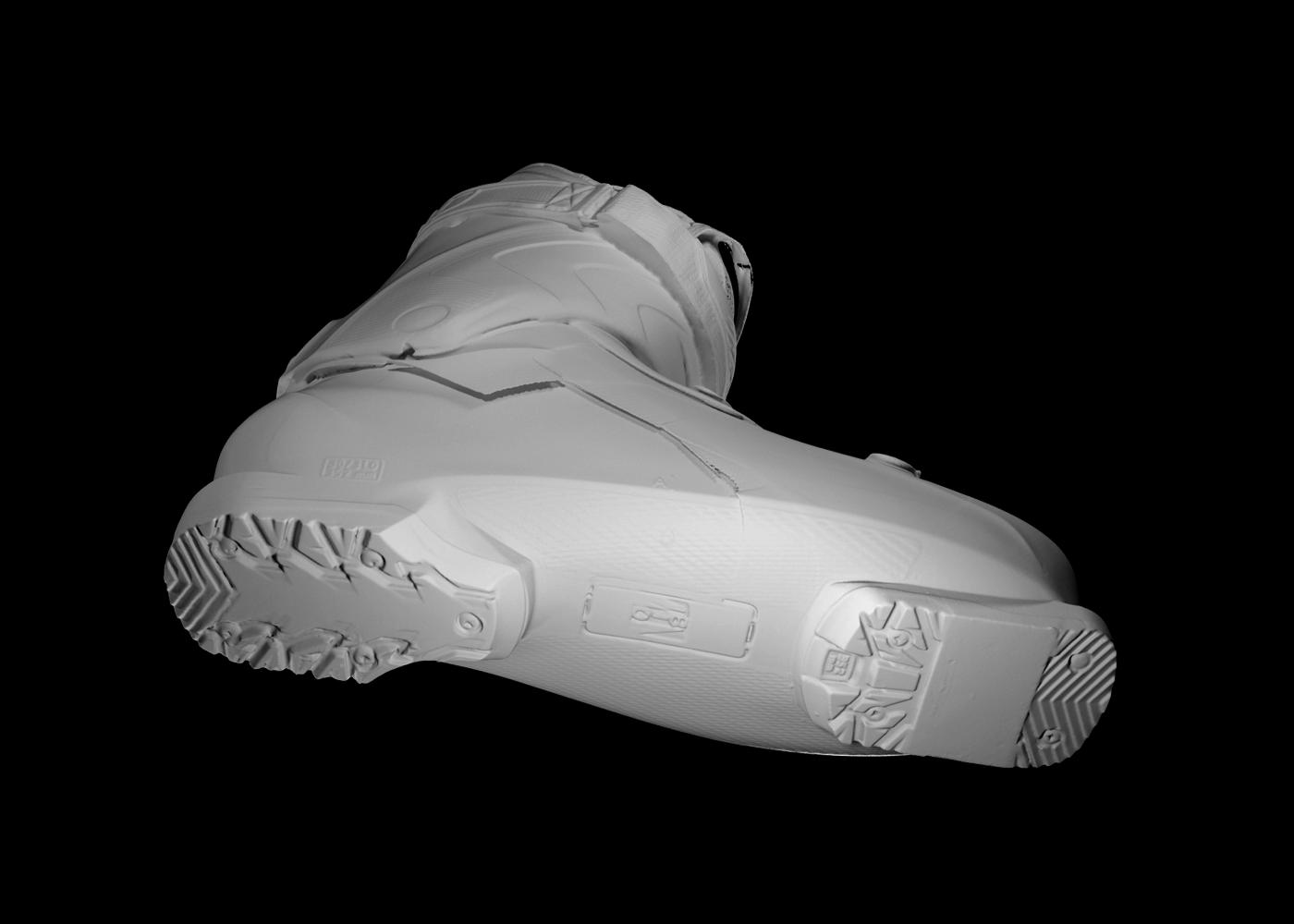 scansione 3d di scarpone da scii 2