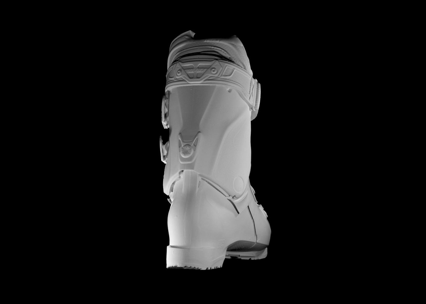 scansione 3d di scarpone da scii 3
