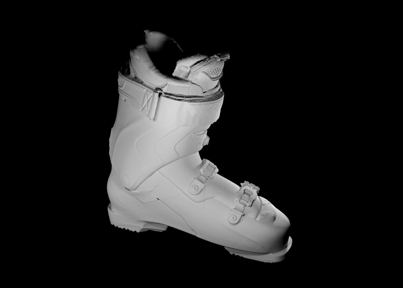 scansione 3d di scarpone da scii 4